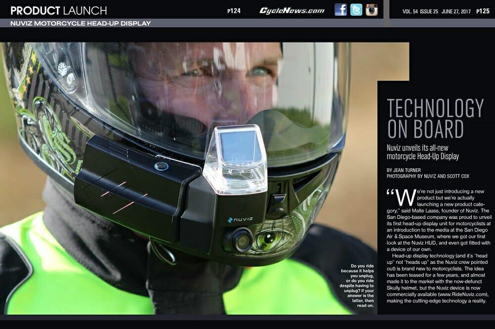 nuviz motorcycle headup display product launch
