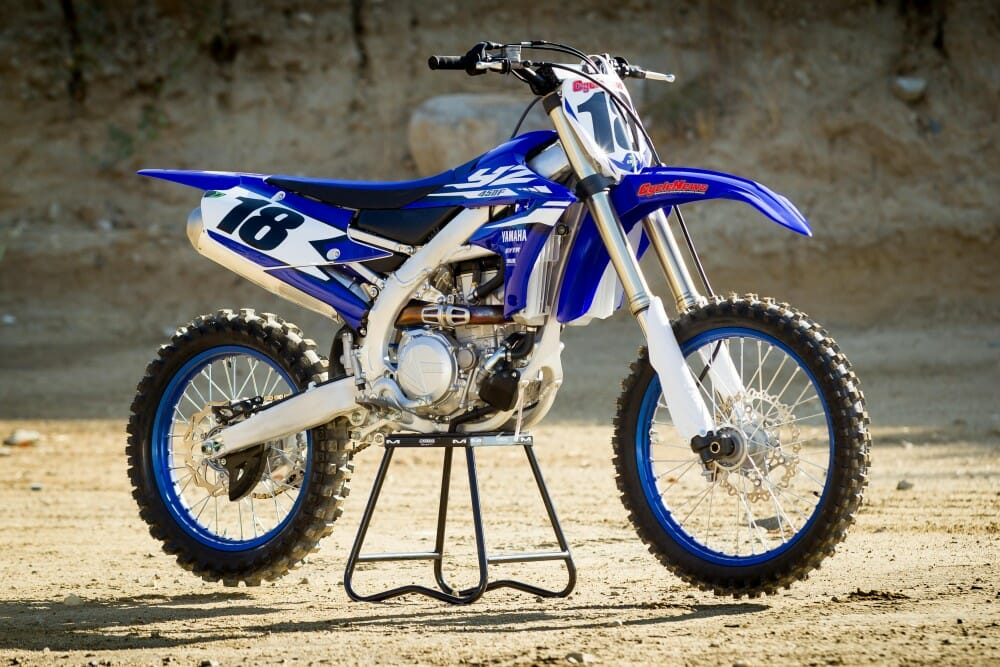 2018 yamaha yz450f first test cycle news. Black Bedroom Furniture Sets. Home Design Ideas
