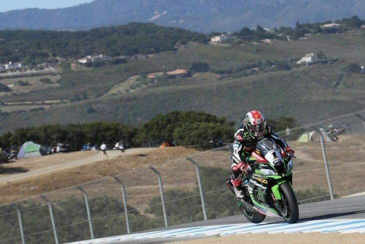 Jonathan Rea won race 2 at Laguna Seca