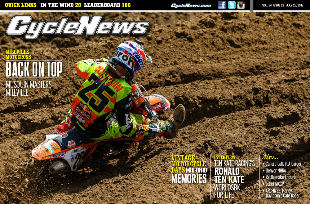 Cycle News Magazine #29: Millville MX, Mid-Ohio Vintage Days, Ten Kate Interview...