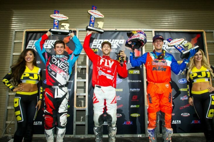 2017 Las Vegas EnduroCross podium