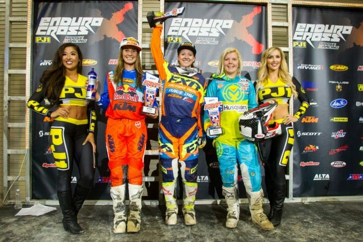 2017 Las Vegas EnduroCross women's podium.
