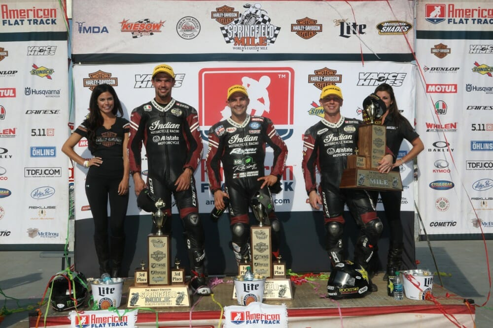 Indian Motorcycle Racing Secures 6th Podium Sweep at Springfield