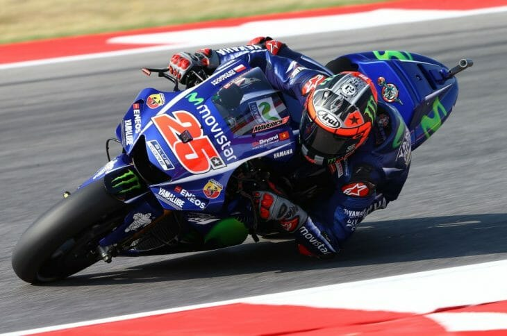 Maverick Vinales took the pole at Misano.