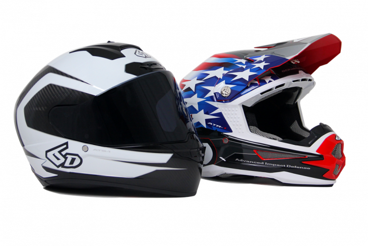 6D ATS-1 and ATR-1 Motorcycle Helmets