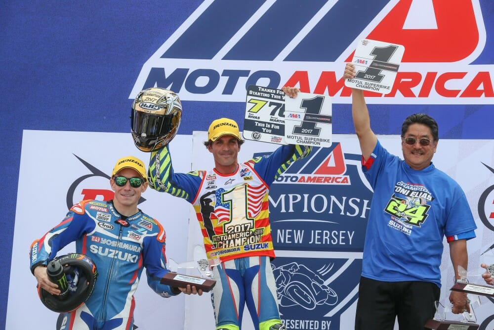 Elias became the 21st different AMA Superbike Champion in history, and is the first titleholder from Europe. Photo: Brian J. Nelson