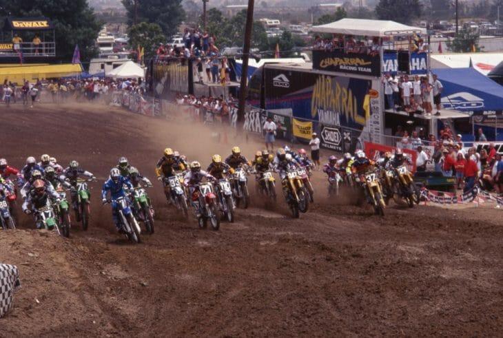 Start of the 1997 Glen Helen 125cc Motocross National