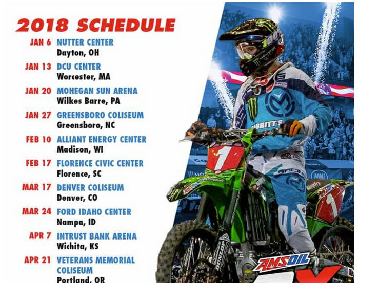 2018 Arenacross Schedule