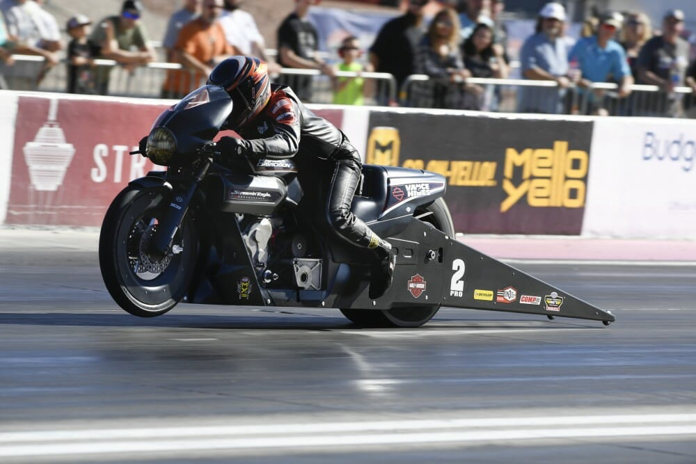 2017 NHRA Pro Stock Motorcycle Las Vegas Results