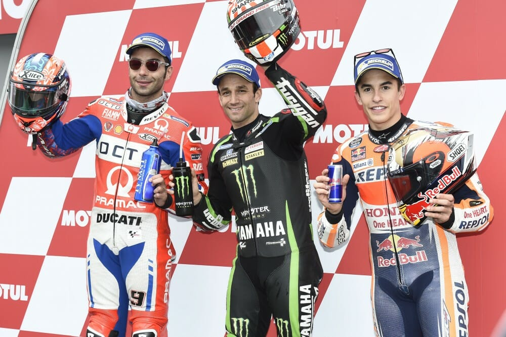 Zarco takes shock pole in Japan
