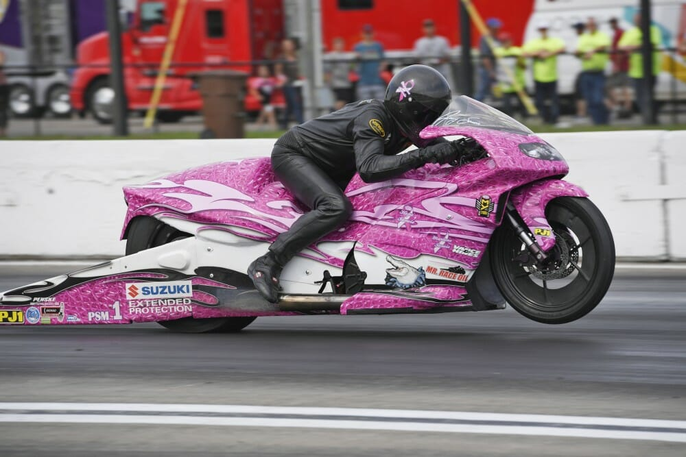 2017 NHRA Pro Stock Motorcycle Dallas Results