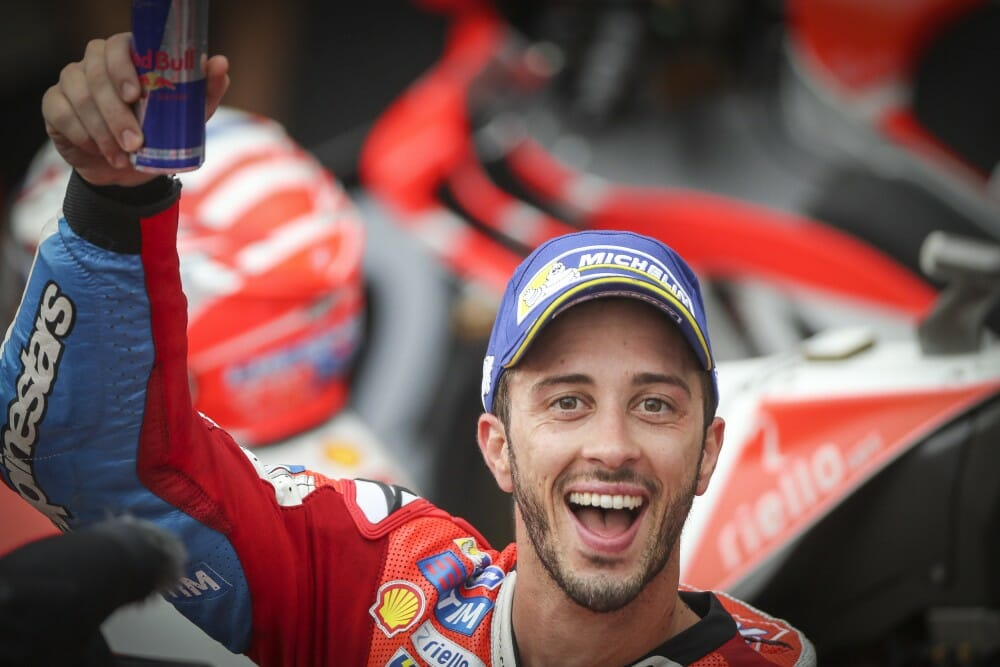Andrea Dovizioso won at Sepang to keep the MotoGP Championship alive.