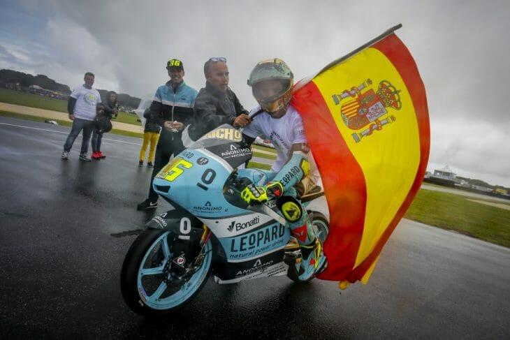 Phillip Island Moto3 winner Joan Mir is the new Moto3 champ.