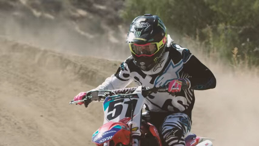 Justin Barcia riding 2018 Honda CRF450R.