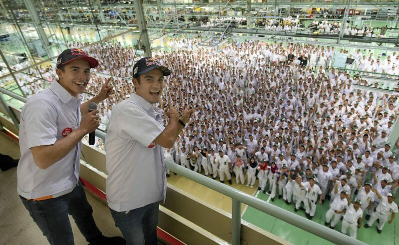 Marc and Dani visit PT Astra Honda Sunter Plant Factory