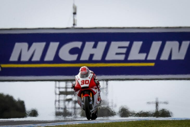 Takaaki Nakagami (Idemitsu Honda Team Asia) was fastest in FP1 at Phillip Island and repeated the feat in the afternoon session, in a class of his own and over half a second clear.