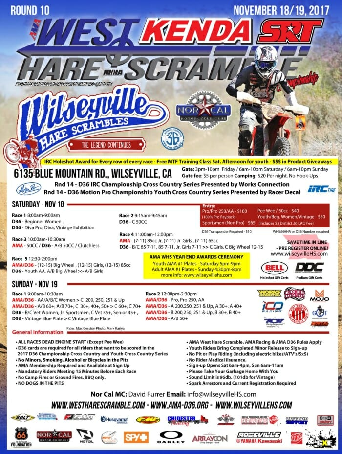 AMA Kenda/SRT West Hare Scrambles Championship