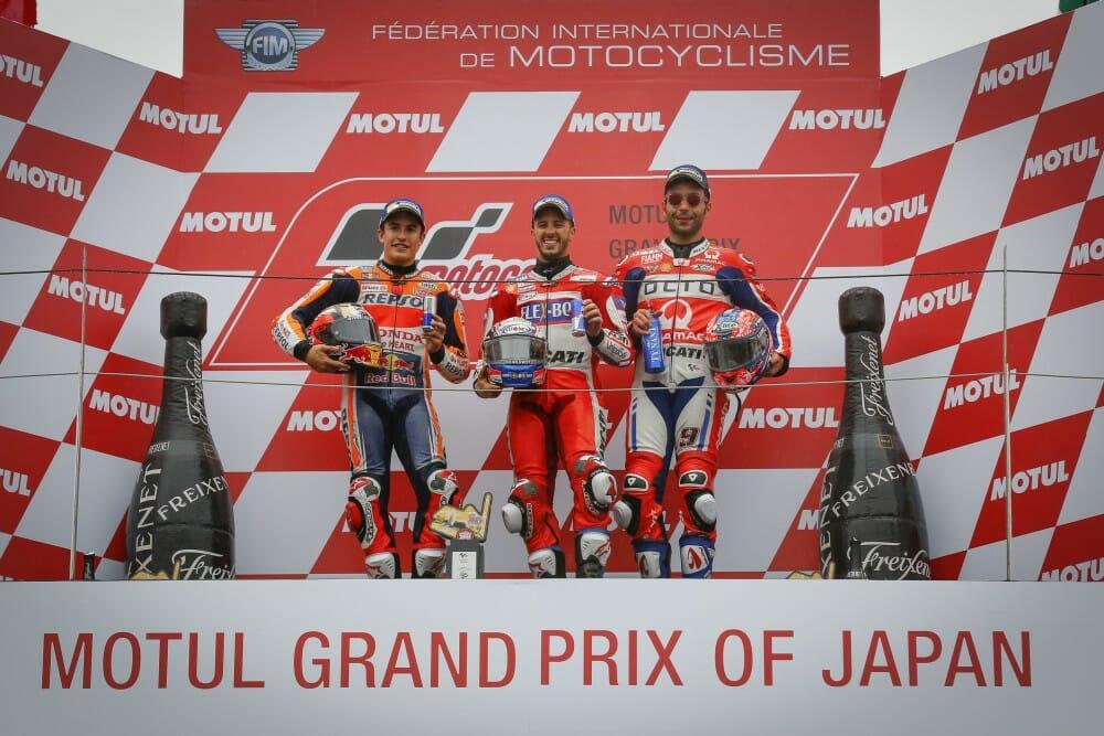 Motegi MotoGP podium