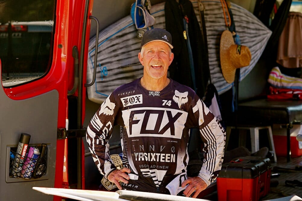Tom White was honored at Perris American Flat Track