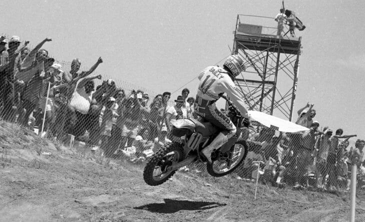 David Bailey raced strategic motos to perfection to win the 1985 Carlsbad USGP in spite of not being 100 percent healthy.