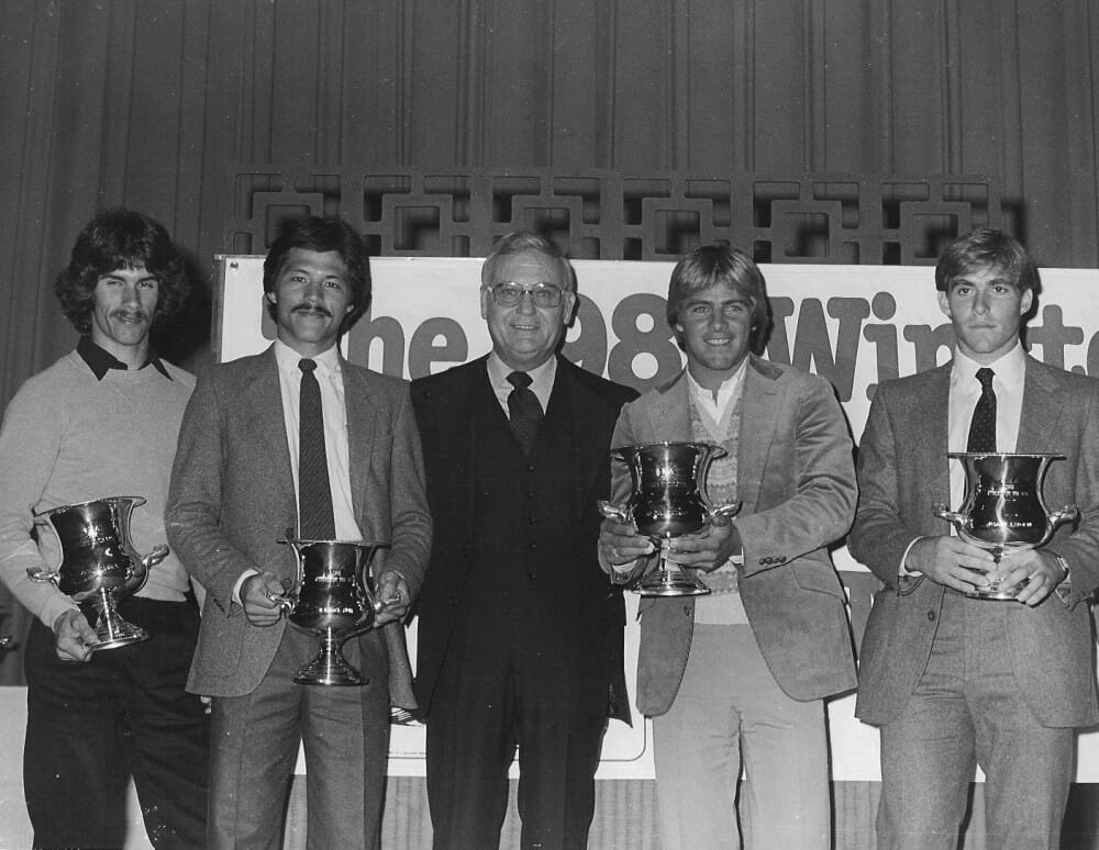 AMA Pro Athlete of the Year presentation in 1981.