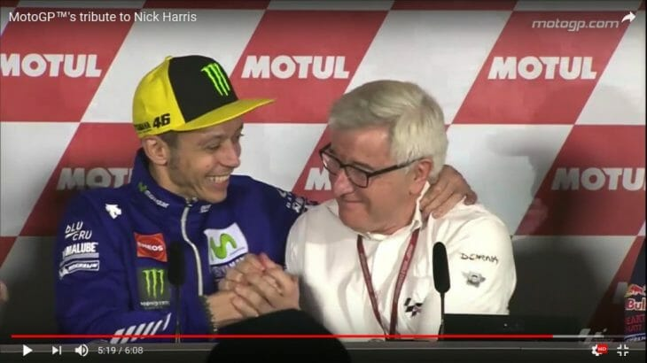 MotoGP's Tribute to Nick Harris