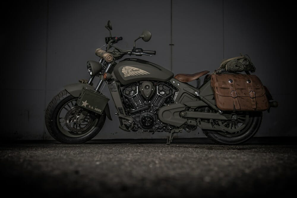 Indian Scout 741B To Be Featured In Call Of Duty WWII Videogame - Interactive Motorcycle Map Of The Us