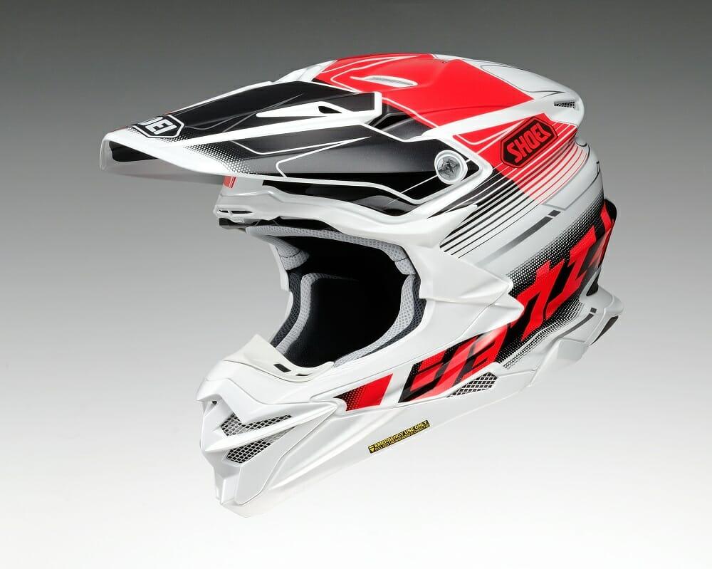 shoei vfx evo mx helmet cycle news. Black Bedroom Furniture Sets. Home Design Ideas