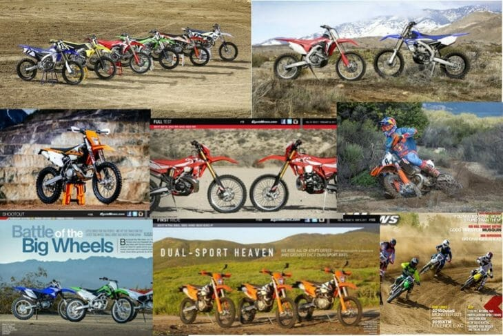 2017 Cycle News top 10 motocross and off-road bike test