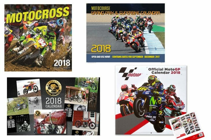 2018 Motorcycle-Themed Wall Calendars