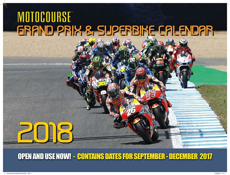7. Motocourse 2018 Wall Calendar