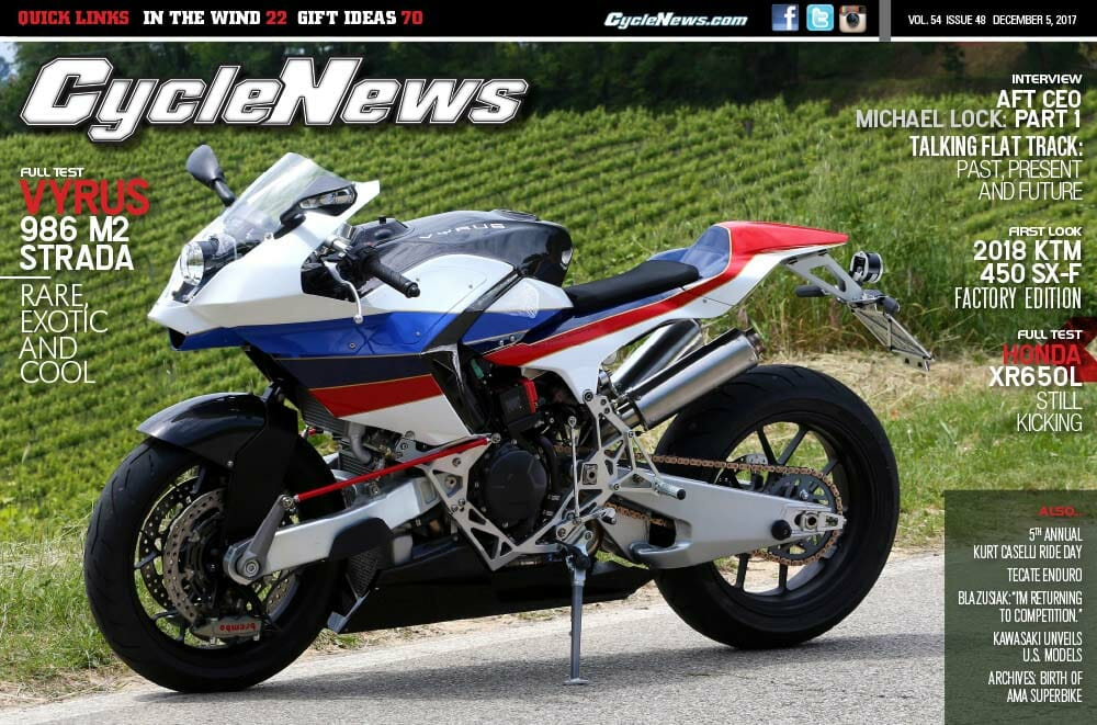 Cycle News Magazine #48: Vyrus 986 M2 Strada Test, Interview: AFT's Michael Lock...