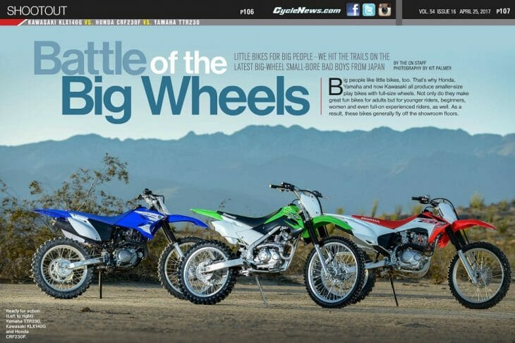2017 Entry Level Off-Road Bikes