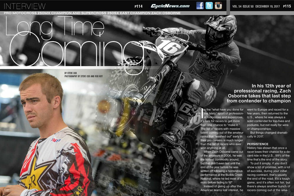 Zach Osborne | 2017 AMA 250cc National MX Champion and AMA 250cc Eastern Regional Supercross Champion