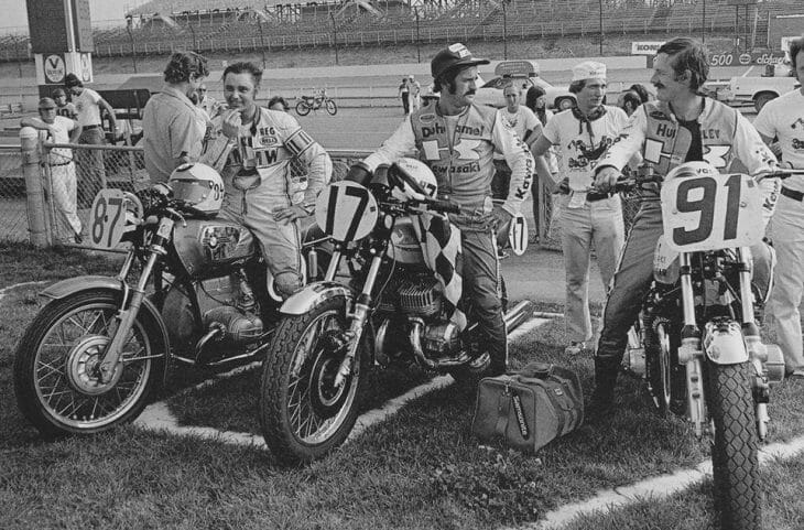 AMA Production podium at Pocono 1973