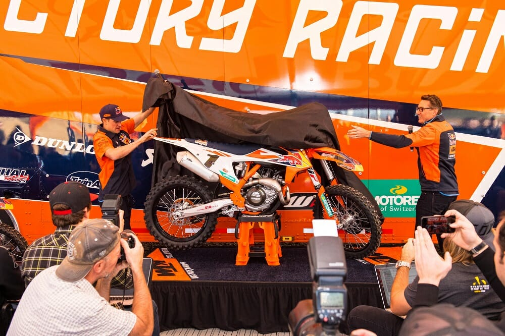 KTM Reveals 2018 U.S. Supercross Teams