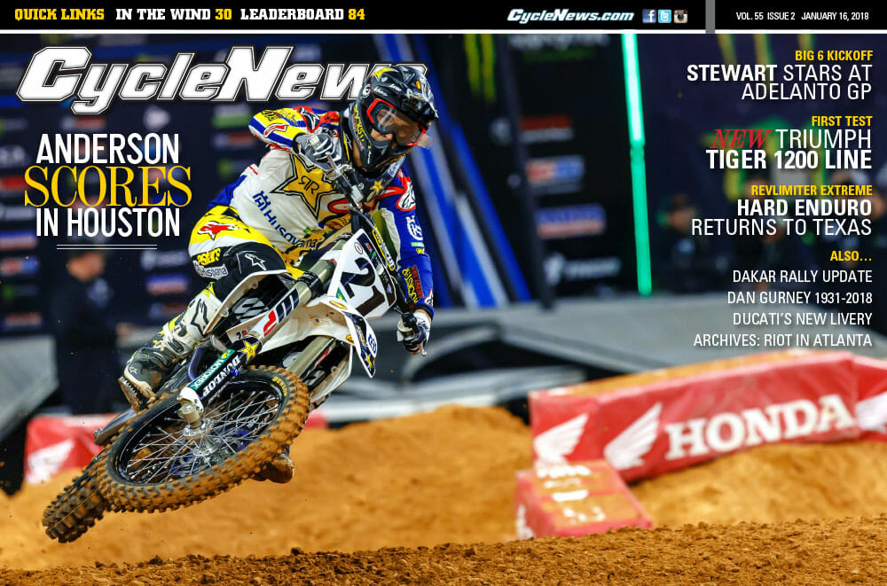 Cycle News Magazine #2: Houston Supercross, Adelanto Big 6 GP, Triumph Tiger First Test...