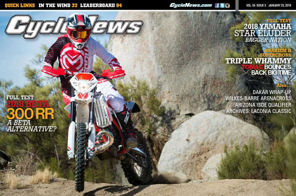 Cycle News Magazine #3: Anaheim II Supercross, Beta 300 RR and Star Eluder First Tests...