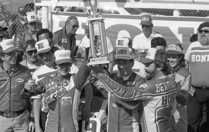 1984 Daytona Bell Superbike 100 podium