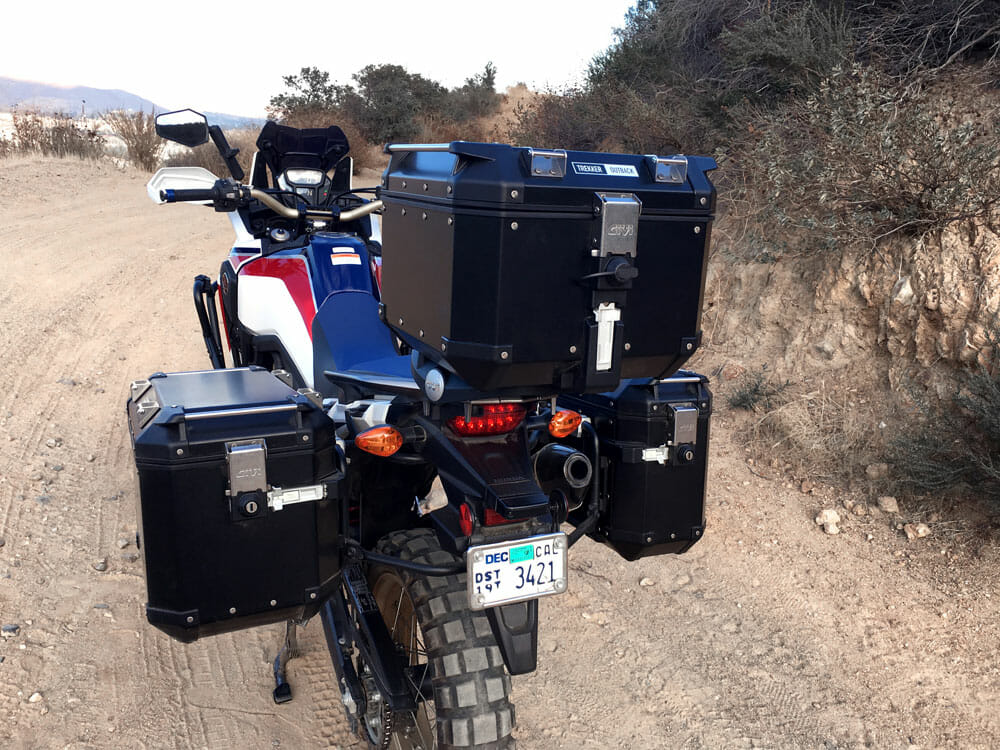 Givi Trekker Outback Hard Cases For The Honda Africa Twin