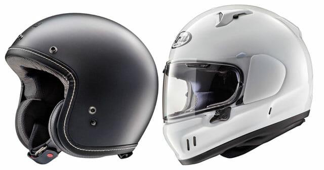 Arai Defiant-X and Classic-V Helmets