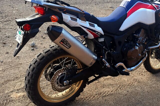Yoshimura RS-4 Slip-On exhaust for the Honda Africa Twin