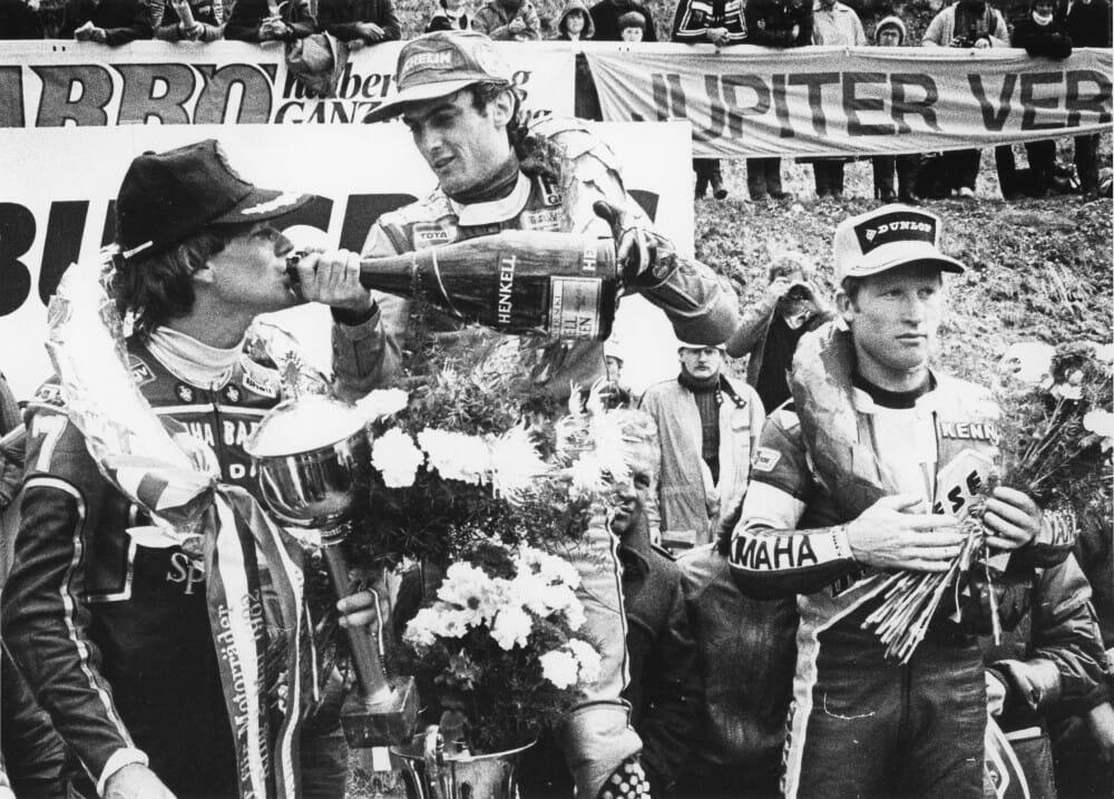 Franco Uncini wins in Austria in 1982