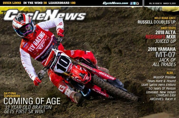 Cycle News Magazine #10: Daytona Supercross, Alta Redshift MXR & Yamaha MT-07 First Tests...