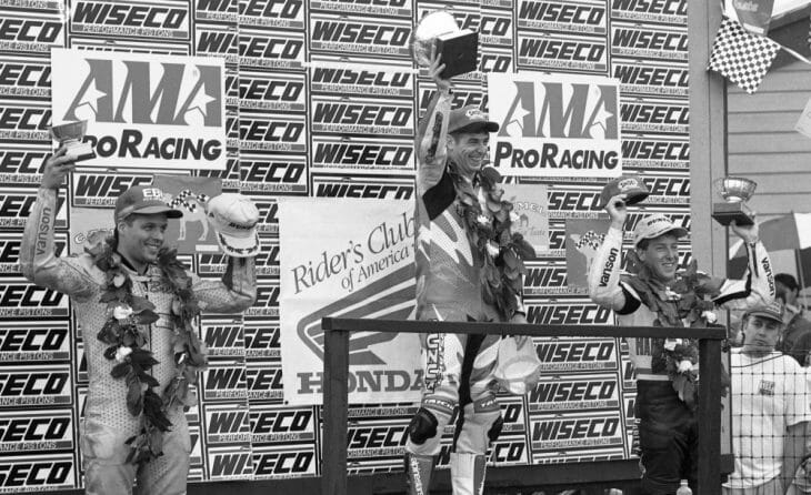 Mid-Ohio Superbike podium 1996