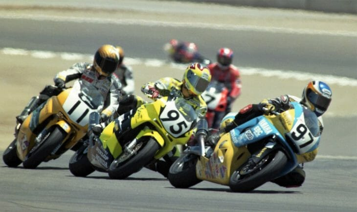 Rich Oliver in 600 Supersport action in 1997