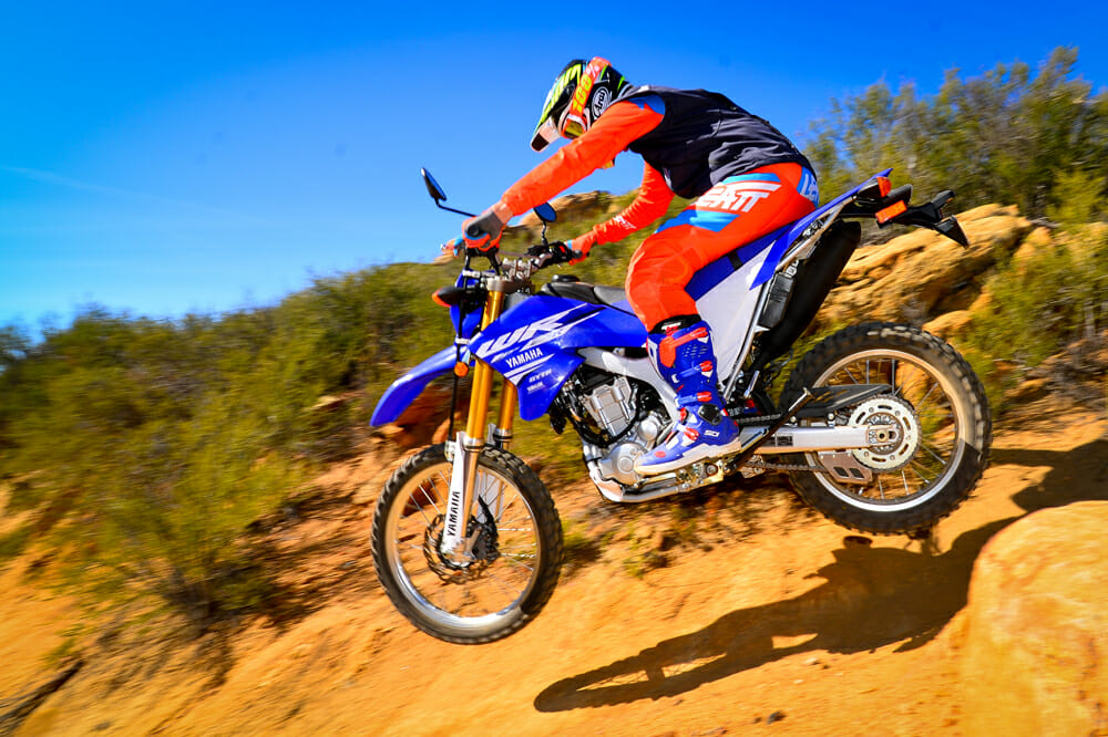 2018 250cc dual sport shootout cycle news for 2018 yamaha wr250r