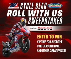 MotoAmerica Cycle Gear Roll With Us Sweepstakes