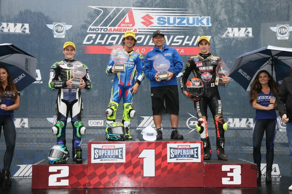 2018 Road Atlanta MotoAmerica Race 2 podium