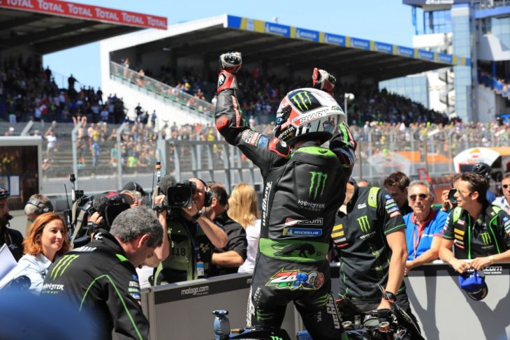 Johann Zarco won the pole for the French MotoGP at Le Mans